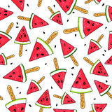 Pattern of watermelon slices Stock Images