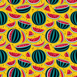 Pattern with watermelons Royalty Free Stock Photo