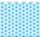 Pattern wave of sea japanese style Stock Photo