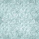 Pattern with waves and cloud Royalty Free Stock Photos
