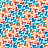 Pattern of Waves of Different Colors. Diagonal Abstract Pattern of Variegated Waves Vector Illustration