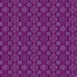 Pattern with waves and snowflakes, purple Royalty Free Stock Photography
