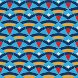 Pattern with waves and triangles Royalty Free Stock Photography