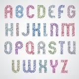 Pattern wavy colorful fashionable font, Royalty Free Stock Photo