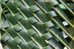 Pattern weave of coconut leaves Royalty Free Stock Image