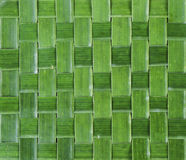 Pattern weaving of banana leaves Royalty Free Stock Photo