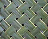 Pattern weaving of coconut leaves Royalty Free Stock Images