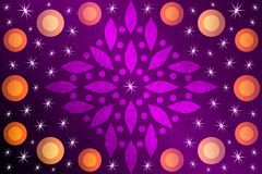 Violet texture and star Abstract background temped