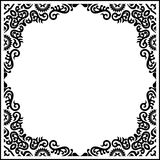 Black Vector vintage ornament calligraphy frame pattern Royalty Free Stock Photography