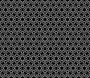 Abstract geometric dot and curve seamless pattern design Royalty Free Stock Image