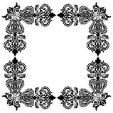 Vector floral Black and White frame design Royalty Free Stock Image