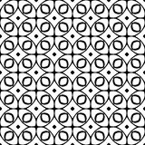 Vector Black and White seamless pattern design Stock Image