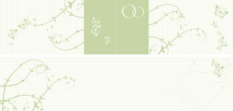 Pattern of wedding card Stock Photos