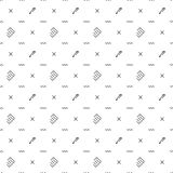 Office and school vector concept: paper notepads with pans. Back to school isolated on white background. Pattern of welcome back to school with modern thin line Royalty Free Stock Photography