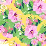 Pattern on white background bouquet pink flowers texture fabric background border abstract. Pattern on white background bouquet pink flowers fabric texture Stock Photo