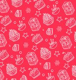 Pattern of white cakes Royalty Free Stock Images