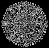 Pattern with white decorated round Stock Image