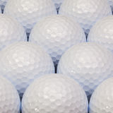Pattern from white golf balls Stock Images