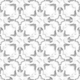Pattern with white and gray layers. Abstract 3d seamless background. Pattern with white and gray layers and cut out of paper effect vector illustration