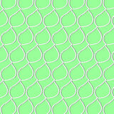 A pattern of white leaves with a shadow. On green background stock illustration