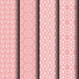 Pattern white line pattern. Patterned pink background with white lines Which can be used endlessly Royalty Free Stock Photos