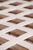Pattern of a white plastic lattice Royalty Free Stock Images