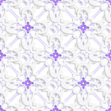 Pattern with white and purple layers. Abstract 3d seamless background. Pattern with white and purple layers and cut out of paper effect royalty free illustration