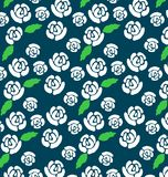 Pattern of white roses Royalty Free Stock Photo