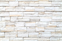 Pattern of White stone Brick Wall royalty free stock photography