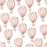 Pattern whith hot air balloons Royalty Free Stock Photo