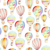 Pattern whith hot air balloons Royalty Free Stock Image