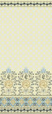 Pattern with wide bordure Stock Image