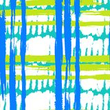 Pattern with wide brushstrokes and stripes Royalty Free Stock Image