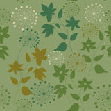 Pattern with wild flowers and herbs Stock Photography