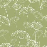 Pattern of the wild flowers Royalty Free Stock Image