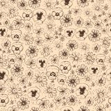 Pattern of wildflowers Stock Images