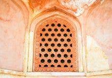 Pattern window at Humayun Tomb Royalty Free Stock Image