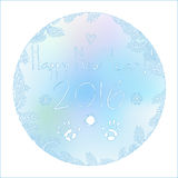 The pattern on the window in 2016 New Year. The vector picture. EPS 10 Royalty Free Stock Photos