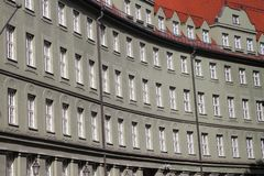 Pattern of windown in Munich, Germany royalty free stock photos