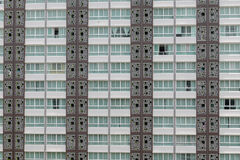 Pattern of windows in condominium room with attached small balco Royalty Free Stock Photo