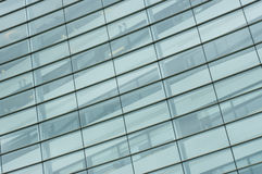 Pattern of windows on office building Royalty Free Stock Images