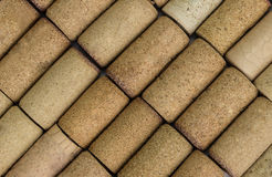 Pattern of wine corks Stock Photography