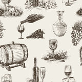 Pattern of wine making Stock Image