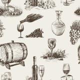 Pattern of wine making vector illustration