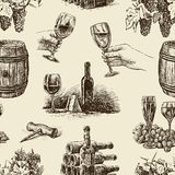 Pattern of wine Royalty Free Stock Photos