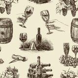 Pattern of wine stock illustration