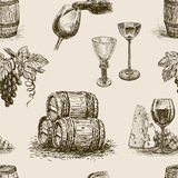 Pattern of winemaking Stock Photo