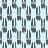 Pattern with winter bunny Royalty Free Stock Photography