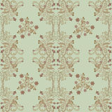 Pattern With Carved Flowers Royalty Free Stock Photos