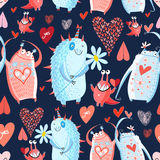 Pattern With Monsters Stock Images